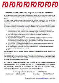 Lien vers le communiqué FO d'appel à la grève du 12 septembre